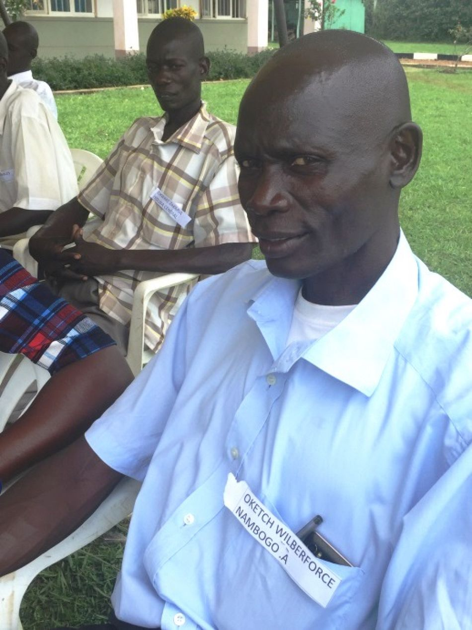 pListening tonbsphis colleaguesnbspspeech Mr Wiberforce Oketch village health team worker at Nambogo A village saysnbspldquoI am also very happy at this time to be a village health team member It is truly rewarding and gives me pride I am going to reach my clients faster I now even have my own transport that I can use to bring a patient to the health centre if I have tordquop