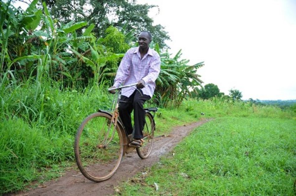 In addition to receiving patients in his home Solomon also performs home visits and gives basic health promotion sharing the village health team bicycle with his fellow village health team volunteers