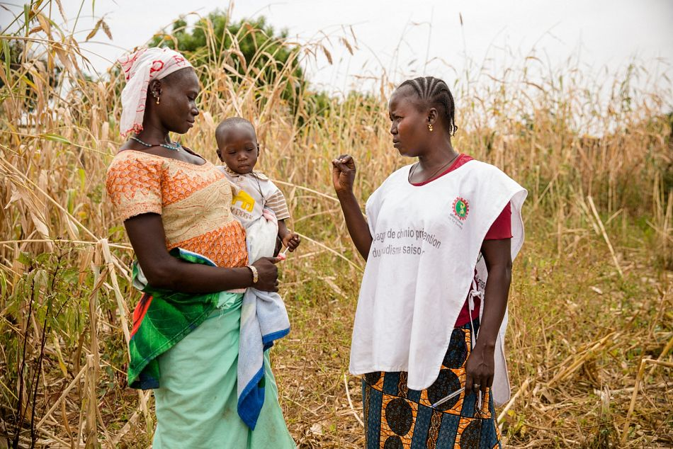 pCaregivers take advantage of the rainy season to maximise crop production so community health workers must ensure that they reach children accompanying them in the fieldp
