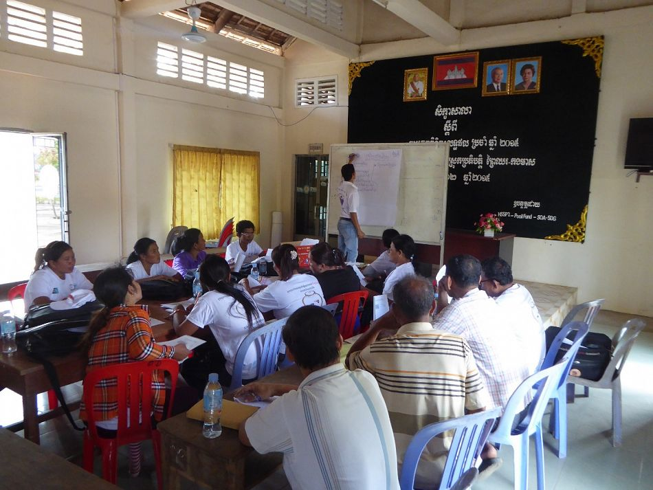 pCentral to this approach is effective training of community health volunteers so they are able to go back to their communities and change behaviours of their peers As Sen Sokky from Chor Chork village highlights ldquoWhen I got training from dengue prevention experts they gave me leaflets and explained all parts of the leaflet and how to explain it properly to my villagers so they can get the full information on dengue and how to prevent itrdquop