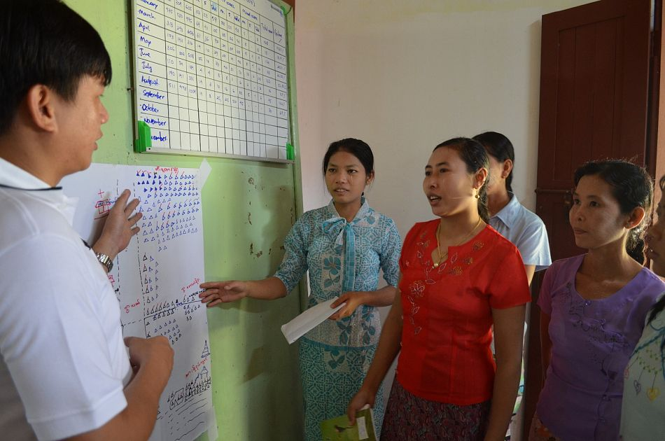 pIn Myanmar we work with people to find positive health behaviours that already exist within communities such as wearing longsleeve clothing outdoors to prevent mosquito bites The rest of the community can then be encouraged to emulate these behaviours in order to improve health and bring down cases of malaria and other diseases such as denguep