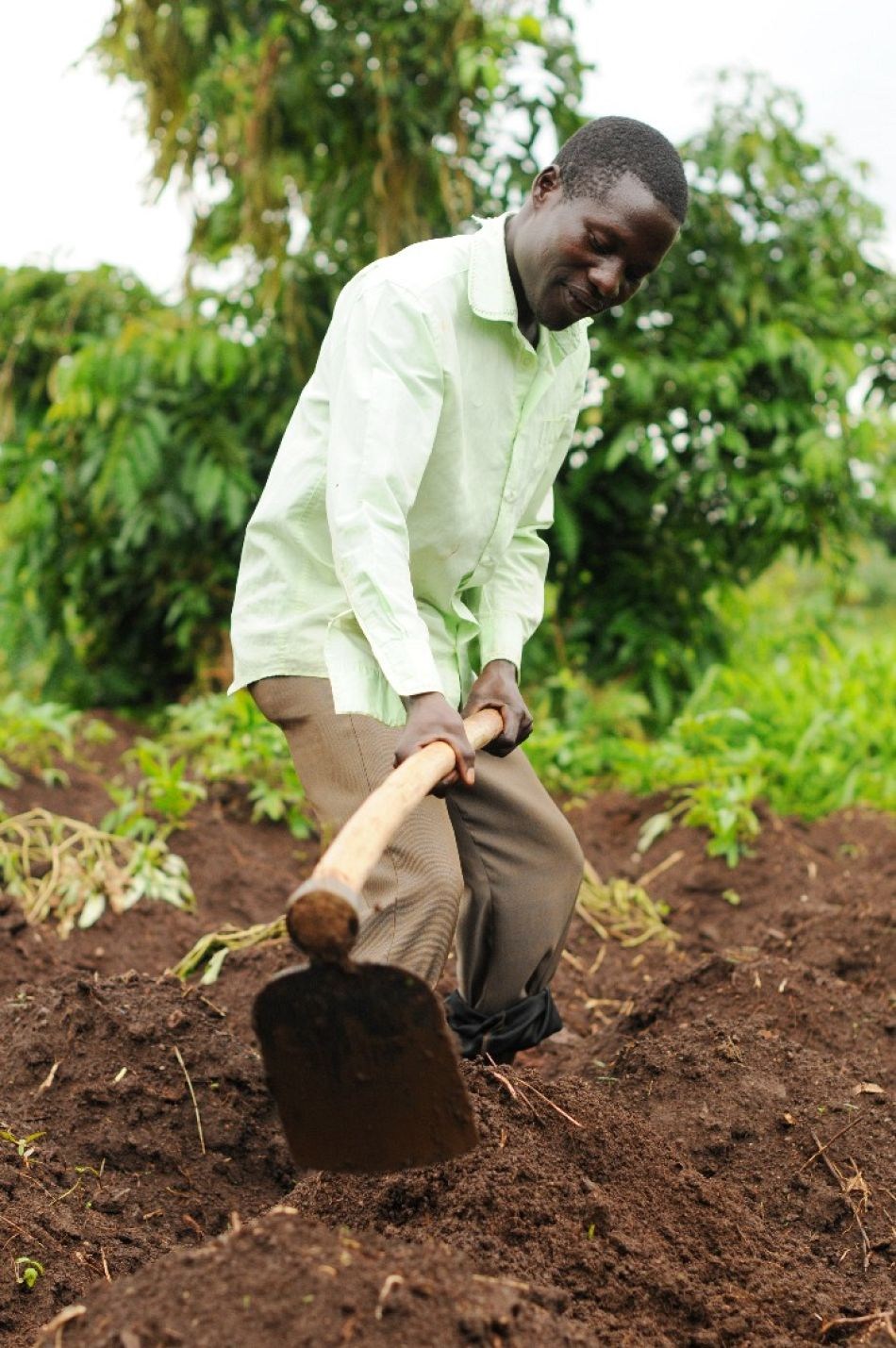 pWhen not teaching or performing his duties as a VHT Godfrey provides for his family through subsistence farmingp