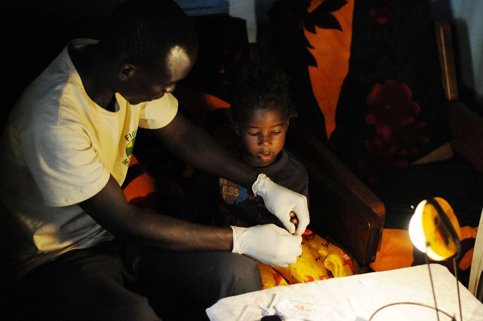 pldquoI use the solar lamp when I am attending to patients at night ndash you need light to examine them to do the tests and to fill in the reports With the solar charger I can charge phones for other people ndash maybe two every day ndash and charge 300 per phonerdquop