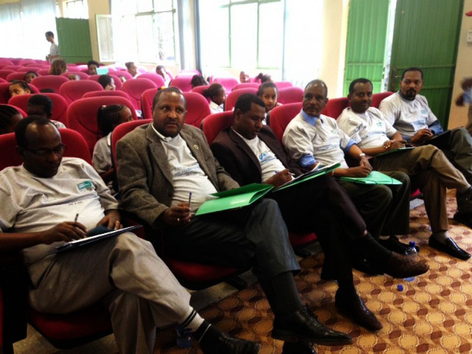 pRegional Health Bureau management team members guest of honor partners heard MC officials Zelalem and Agonafer etc Advocacy workshop organized to observe 2014 WPD on Nov 15 2014 at Hawassa Cityp