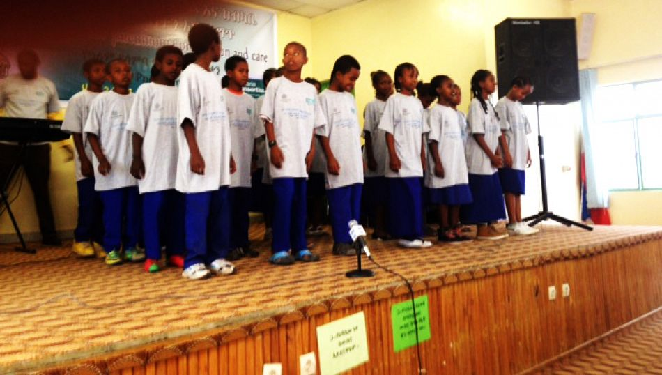 pA song on Pneumonia prevention and care organised by SOS primary school Advocacy workshop organized to observe 2014 WPD on Nov 15 2014 at Hawassa Cityp