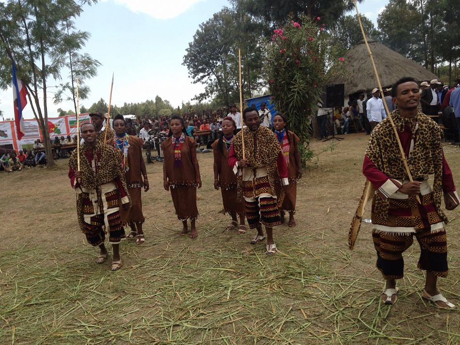 pOne of the opening ceremony activities for Wold Malaria Day 2015 in Ethiopia included traditional dancing of thenbspsouthern regionp