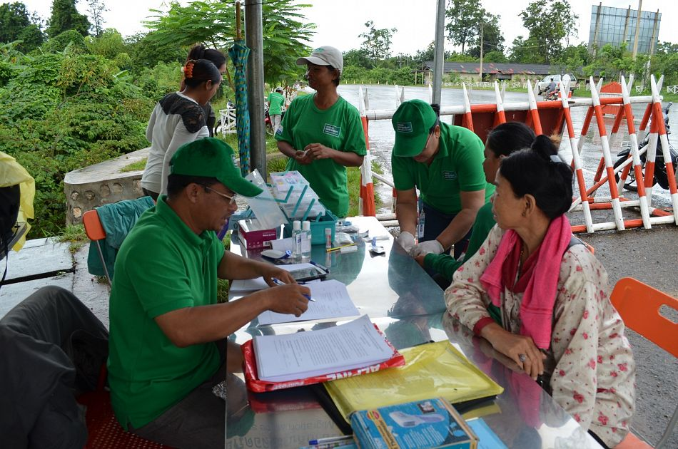 pWe are also working in the region to help limit the spread of malaria by setting up border checkpoints to screen migrant workers If tests come back positive for traces of the malaria parasite the patient is treated on the spotp