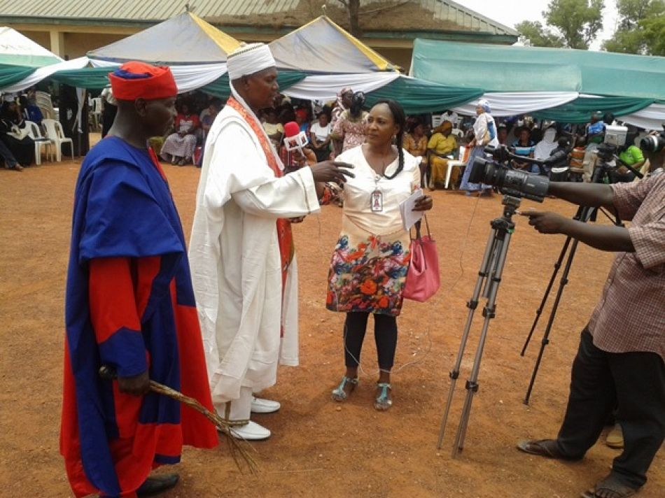 pCommunity leader during annbspinterview for World Malaria Day 2015 at Jikwoi Nigerianbspp