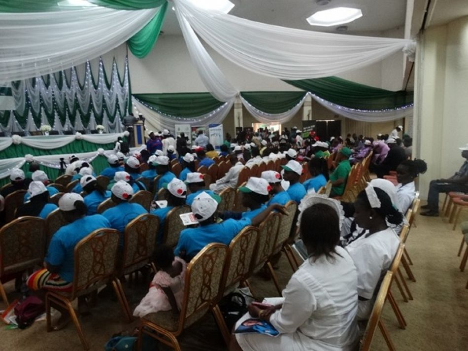 pParticipants at the ministerial press briefing and launch of the National Malaria Strategic Plan in Nigeriap