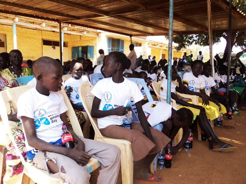 pSchool Children from Ariath Bit Primary School wearing the tshirtsp