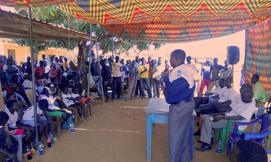 pDr Thomas Garang Director General of Aweil State Hospital addressing the audiencenbspp