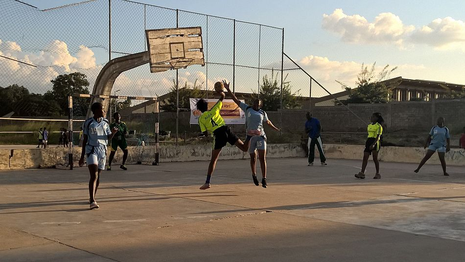 pOther activities included sports events like the basketball tournament pictured abovep