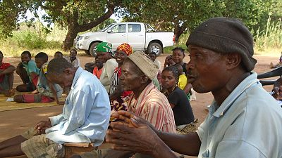 Community dialogues provide an interactive platform for village residents to explore and better understand diseases that are very prevalent but often not well understood and dealt with. They are encouraged to discuss the diseases and share their concerns – which this man is doing in Erati district.