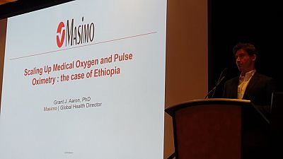 Masimo Global Health Director, Grant Aaron, presents 'scaling up medical oxygen and pulse oximetry: the case of Ethiopia