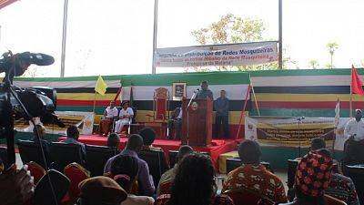 Mozambique President Filipe Jacinto Nyusi officially launching the programme in Lichinga