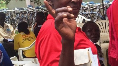 "Her colleague, Ms Jane Odoi, village health team member at Auyo B Village said, ""Thank you so much Malaria Consortium, may God richly bless all the hands that have given to us. These bicycles are really going to make our work easier since we can reach our patients quicker. The bicycles are also of good quality and the spare parts are easily available here. I will keep mine for a very long time to serve my people. Thank you""."