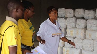 Malaria Consortium Mozambique Director, Sonia Gwesela, inspecting a provincial store