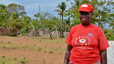 "Filismina Luis has been a member of her community health committee in Inharrime, Mozambique, since 2013. With support from Malaria Consortium's RAcE project, the health committee organises and conducts community dialogues. ""Sometimes we discuss mosquito nets, because some people don't use them or don't have them. Other times, people talk about diarrhoea caused by dirty water."""