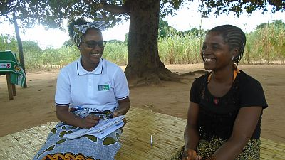 "Fátima Daniel, from the community of Mequita, Namapa Sede, District of Eráti, never missed a dialogue in her community; she remembers she already attended two dialogues that discussed lymphatic filariasis. During these dialogues, she learned about the signs and symptoms of the disease and where to seek care. She explains: ""I suspect that I have elephantiasis, my leg hurts, and my father has this disease too. But now that I have learned how to treat I will follow what they said in the dialogues and I will remove this disease out of the way. I am curious to attend these dialogues because of all we learn at these sessions."""