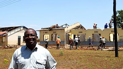 Gonza Kagwa, Project Architect, is on site everyday monitoring the progress of the renovation.