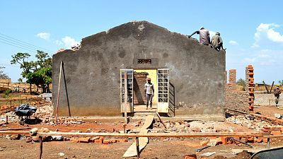 A side view of the health centre following the removal of the roof.