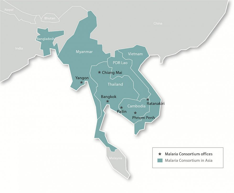 Myanmar On Map Of Asia.Malaria Consortium Our Work In Asia Our Work In Asia